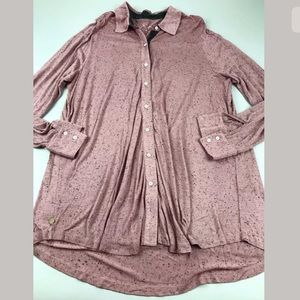Soft Surroundings Button Shirt Top Tunic SZ L